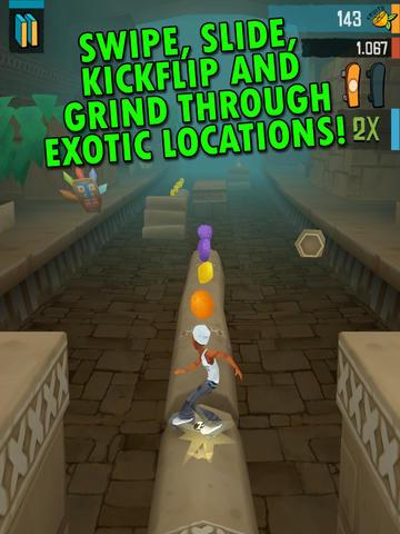 Arcade-Spiele: Lade Verrücktes Skateboard-Fahren auf dein Handy herunter