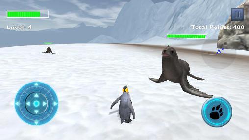 Simulator-Spiele Arctic penguin für das Smartphone