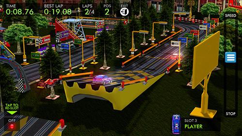 Racing games HTR+ High tech racing: Real slot car simulation for smartphone