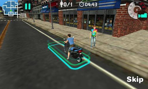 Moto rider 3D: City mission Screenshot