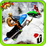 Snowmobile crash derby 3D Symbol