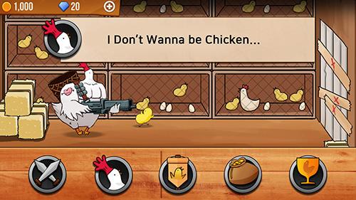 Action Chicken vs man für das Smartphone