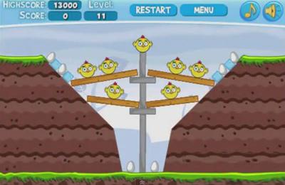 Screenshot Wütende Hühner Pro auf dem iPhone