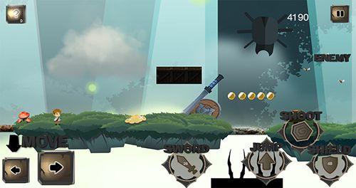Скриншот Приключение маленького воина на Айфон