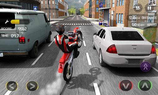 Rennspiele Race the traffic moto für das Smartphone