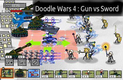 logo Doodle Wars 4: Armes à feu contre Epée