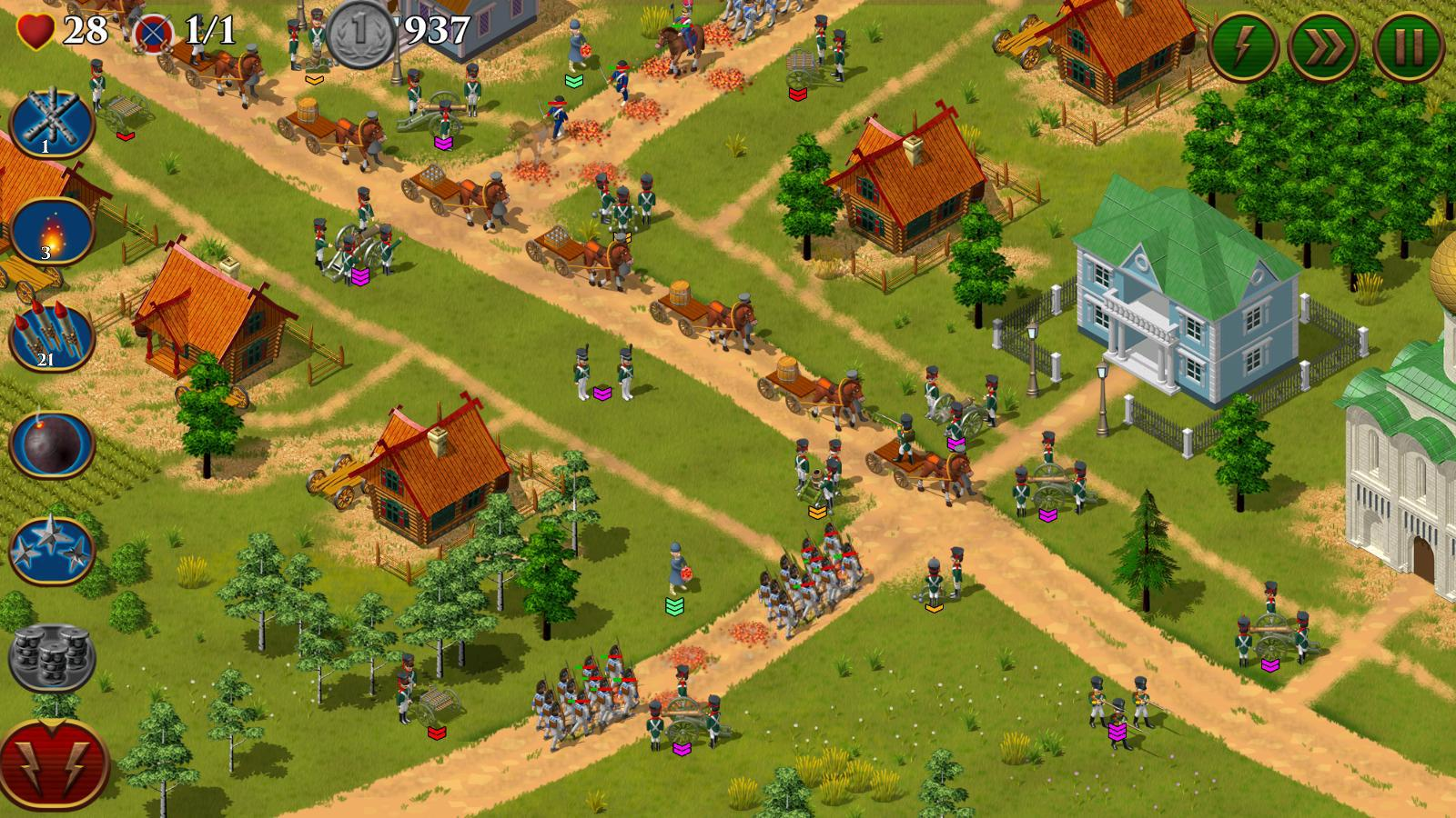 1812. Napoleon Wars TD Tower Defense strategy game для Android