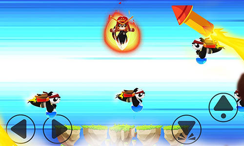 Tanoo jump:Tanukis vs pandas Screenshot