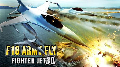 F18 army fly fighter jet 3D icono