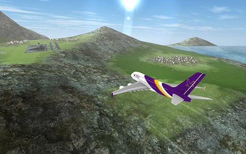 Simulator-Spiele Airplane flying flight pilot für das Smartphone