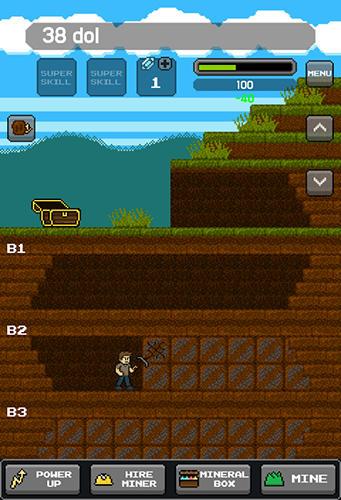 Bagger-Spiele Super miner: Grow miner auf Deutsch