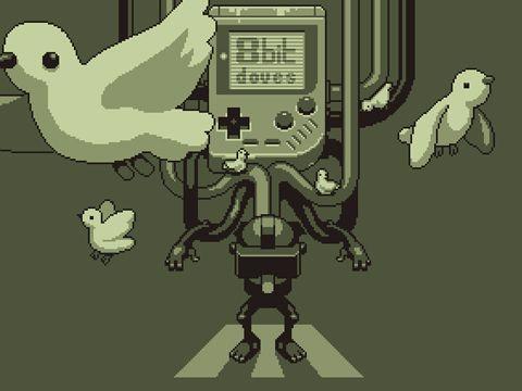 logo Paloma de 8 bits