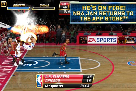 Multiplayer games: download NBA JAM to your phone