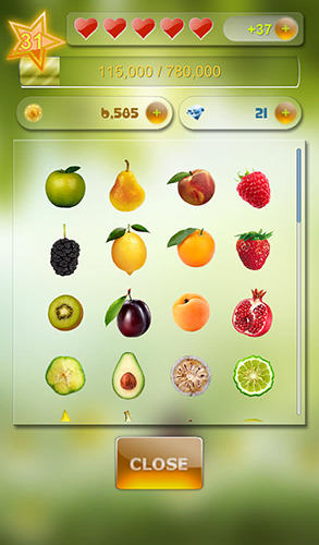 Match 3 fruit für Android