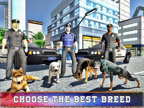 Polizei-Spiele Police dog training simulator auf Deutsch