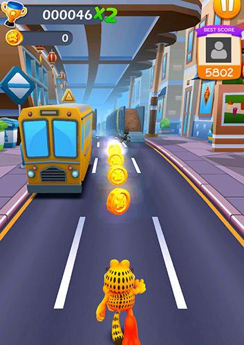 Capturas de tela de Garfield rush