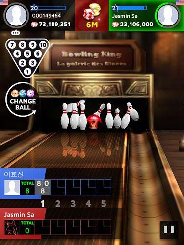 Screenshot Bowling König auf dem iPhone