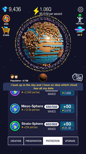 Idle world! скриншот 2