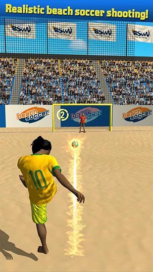 Arcade Beach soccer shootout für das Smartphone