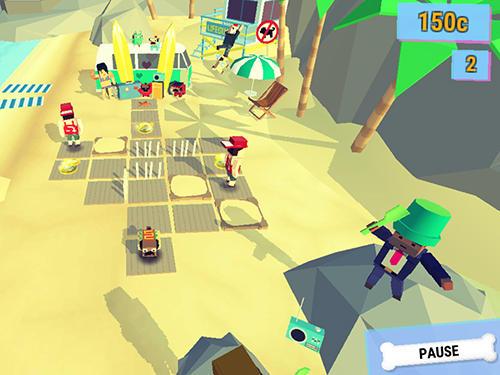 Arcade-Spiele Party pugs: Beach puzzle go! für das Smartphone