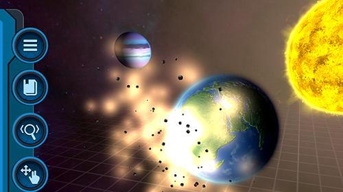 Simulation Pocket universe: A 3D gravity sandbox pour smartphone