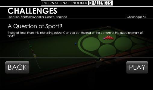 International snooker challenges für Android