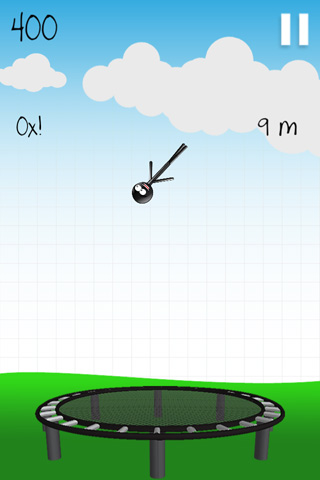 Screenshot Stickman: Trampolin auf dem iPhone
