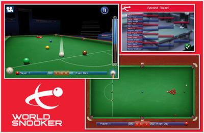 Screenshot Snooker Weltmeisterschaft auf dem iPhone