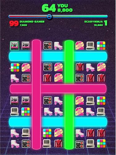 Fight back to the 80's: Match 3 battle royale для Айфону