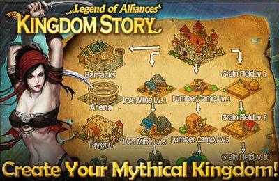 Captura de tela Historia do Reino: Lenda de alienígenas no iPhone