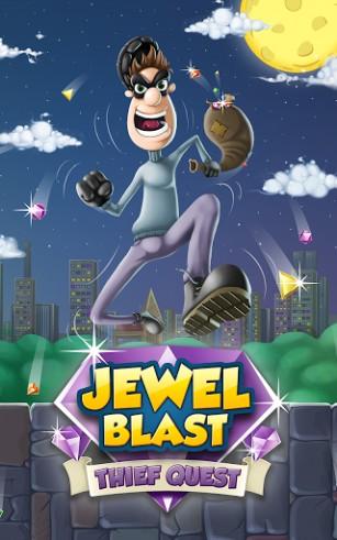 Jewel blast: Thief quest. Diamond blast: Game three in a row captura de pantalla 1