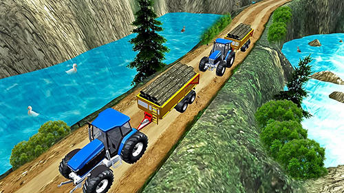 Drive tractor offroad cargo: Farming games screenshot 3