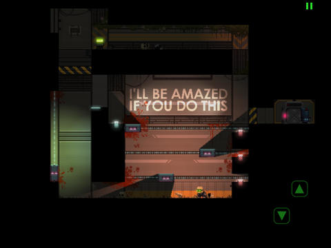Screenshot Stealth Inc.: Eine Kopie in der Dunkelheit auf dem iPhone