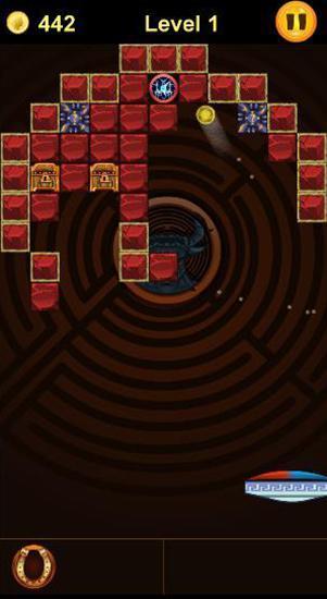 Arcade-Spiele Arkanoid: Crush of Mythology. Brick breaker für das Smartphone