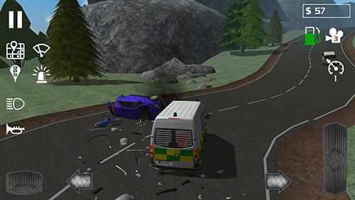 Emergency ambulance simulator screenshot 1