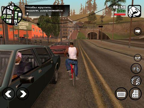 Screenshot Schwerer Kraftfahrzeugdiebstahl: San Andreas auf dem iPhone