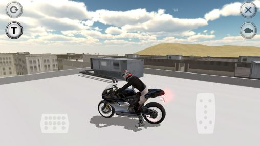 Fast motorcycle driver auf Deutsch