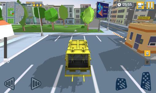Simulation Blocky garbage truck sim pro für das Smartphone