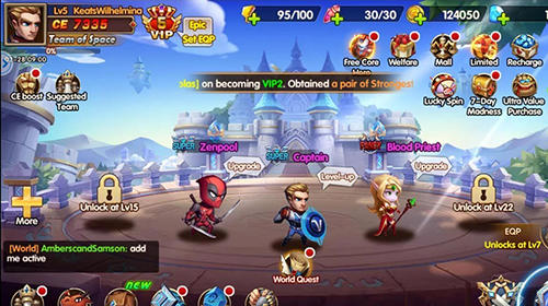 Super heroes galaxy: Olympus rising für Android