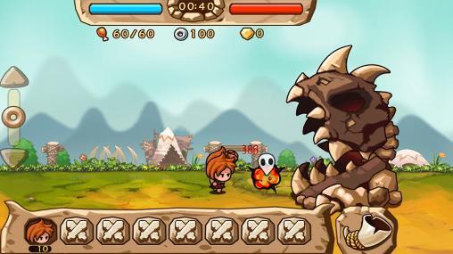 Juegos de defensa de las torres Caveman vs dino en español
