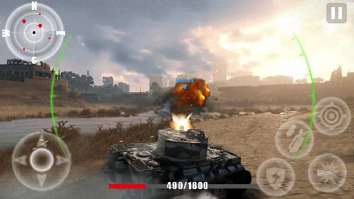 Final assault tank blitz: Armed tank games para Android