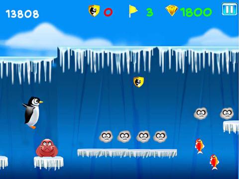 Lauf Kelvin: Die Pinguinflucht für iPhone