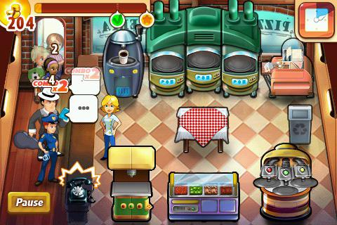 Screenshot Pizza Shop Mania auf dem iPhone