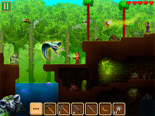 Action Adventaria: 2D world of craft and mining for smartphone