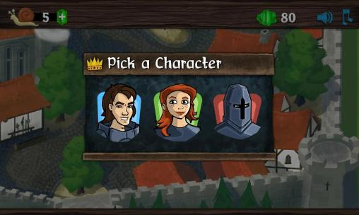 Arcade-Spiele Knights and snails für das Smartphone