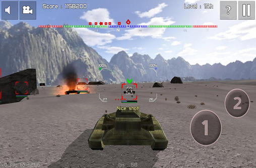 Simulation Armored forces: World of war für das Smartphone