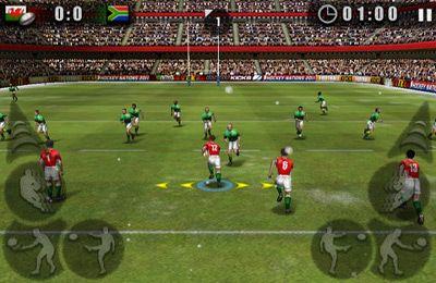 Screenshot Rugby Meisterschaft 2011 auf dem iPhone