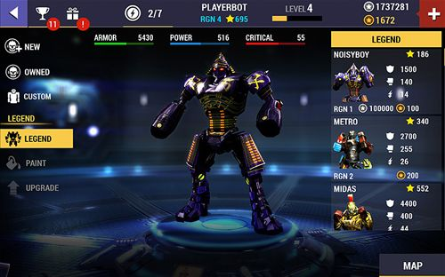 Screenshot Echter Stahl: Champions auf dem iPhone