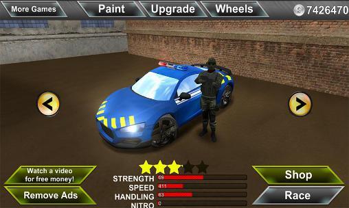 Rennspiele Police agent vs mafia driver für das Smartphone