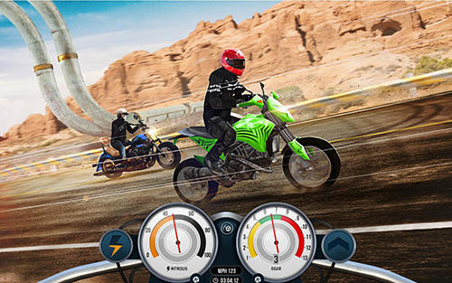 Bike rider mobile: Moto race and highway traffic für Android